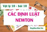 Các định luật Niu-tơn (Newton), công thức và ý nghĩa của định luật Niu-tơn - Vật lý 10 bài 10